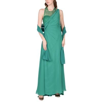 PAOLA BLŪ ロングワンピース&ドレス グリーン 48 ポリエステル 100% ロングワンピース&ドレス