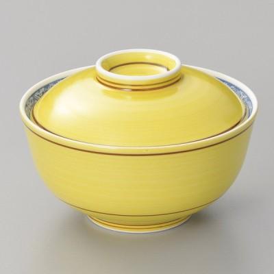 陶雅 黄刷毛牛若円菓子碗