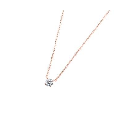 【Creamdot.】華奢でエレガントな印象の、1粒ジルコニアネックレス ネックレス(ペンダント)