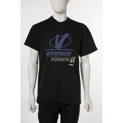 ヴェトモン Tシャツ 半袖 丸首 メンズ MSS18TR35 ブラック Vetements