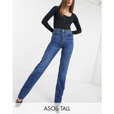エイソス ASOS Tall レディース ジーンズ・デニム ボトムス・パンツ Asos Design Tall Organic Mid Rise '90'S' Straight Leg Jeans In Rich 70'S Blue グレー
