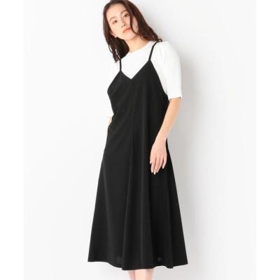 【ミューズ リファインド クローズ】 バックリボンキャミワンピース レディース クロ M MEW'S REFINED CLOTHES