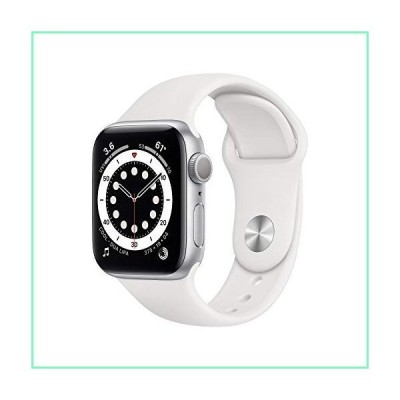 New Apple?Watch Series 6 (GPS, 40mm) - Silver Aluminum Case with White Sport Band【並行輸入品】