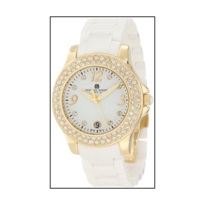 Charles-Hubert, Paris Women's 6789-W Premium Collection Ceramic and Stainless Steel with Swarovski Crystal Watch[並行輸入品]