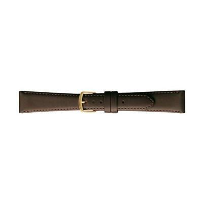 BAMBI バンビ 時計バンド 牛革 チョコ 17mm 美錠 ゴールド C270BO
