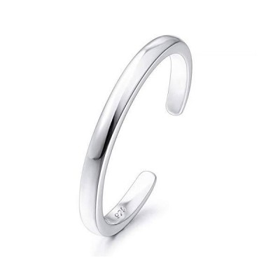 (新品) INBLUE 925 Sterling Silver Toe Rings for Women Girls Lover Sisters Adjustable Engagement Wedding Promise Open Band Jewelry for