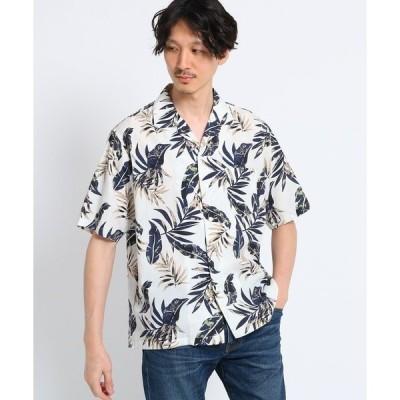 シャツ ブラウス ボタニカルプリントシャツ