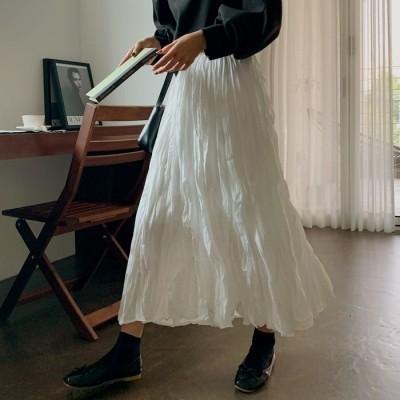 110726ミューズエレガントリンクルロングスカート[ontheriver] 送料0円! 大人可愛いデイリールック。韓国ファッションNo.1