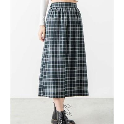 スカート WEGO/チェックロングスカート