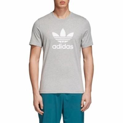 アディダス ADIDAS ORIGINALS メンズ Tシャツ トップス Trefoil T-Shirt Medium Grey Heather