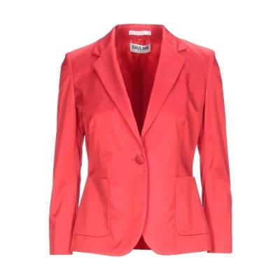 SAULINA Milano テーラードジャケット レッド 44 コットン 51% / レーヨン 44% / ポリウレタン 5% テーラードジャケット