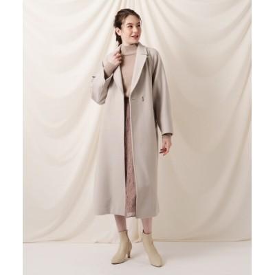 Couture brooch / ライトメルトンジャージラップコート WOMEN ジャケット/アウター > チェスターコート