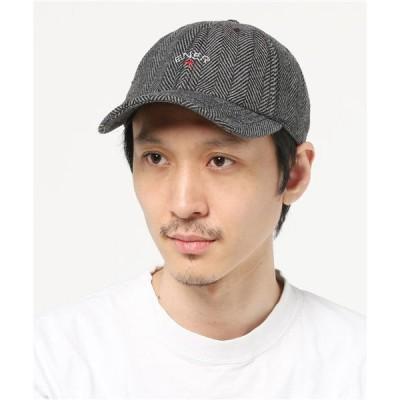 """帽子 キャップ ツイード エンブロイド キャップ """"CROSS"""