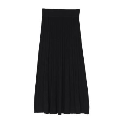 ユアーズ ur's プリーツロングスカート (ブラック)