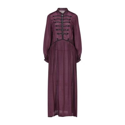 SHARE SPIRIT 7分丈ワンピース・ドレス ディープパープル 38 シルク 100% 7分丈ワンピース・ドレス