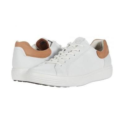 ECCO エコー メンズ 男性用 シューズ 靴 スニーカー 運動靴 Soft 7 Street Sneaker - White/Cashmere