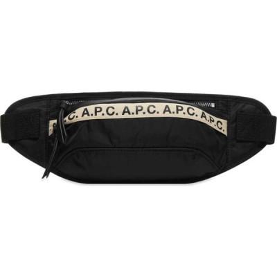 アーペーセー A.P.C. メンズ ボディバッグ・ウエストポーチ バッグ Lucille Tape Logo Waist Bag Black/White/Banana