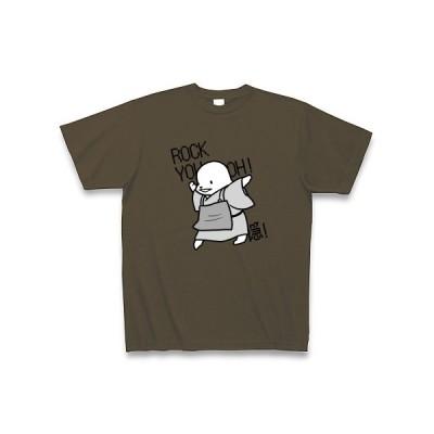 ろっきゅー(黒) Tシャツ Pure Color Print(オリーブ)