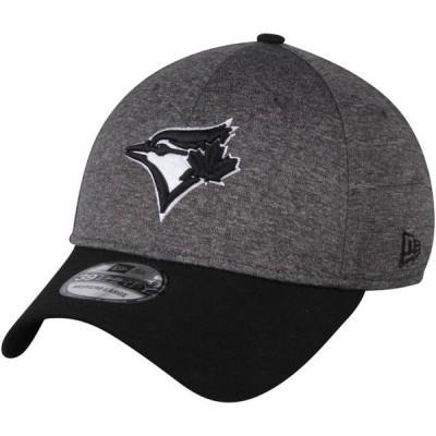 ユニセックス スポーツリーグ メジャーリーグ Toronto Blue Jays New Era Shadow Tech 39THIRTY Flex Hat - Heathered Gray/Black 帽子