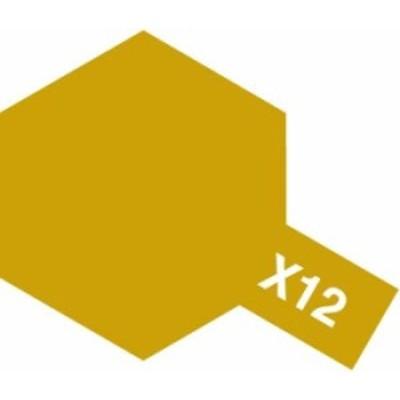 タミヤ アクリル塗料ミニ X12 ゴールドリーフ 《塗料》