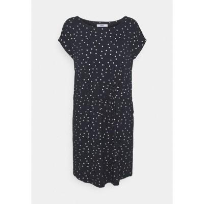 オンリー ワンピース レディース トップス ONLMILLIE BELT DRESS - Day dress - night sky/silver