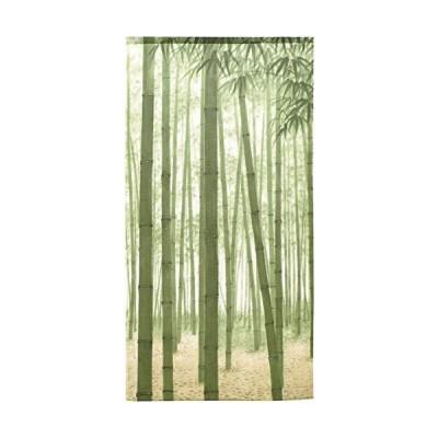 のれん 壁飾り タペストリー 間仕切り 目隠し 半間のれん 和柄 85×170cm 竹林若葉 10568A