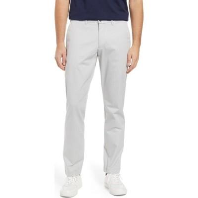 ノードストローム NORDSTROM メンズ チノパン スキニー・スリム ボトムス・パンツ Sueded Slim Fit Stretch Chinos Grey Silk