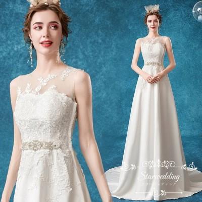 ウエディングドレス ウェディングドレス ドレス 結婚式 二次会 花嫁 ウェディング ホワイト 白ドレス ロングドレス 披露宴 安い ブライダル トレーン