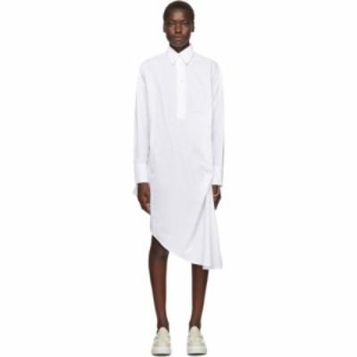 メゾン マルジェラ MM6 Maison Margiela レディース ワンピース シャツワンピース ワンピース・ドレス white collared shirt dress White