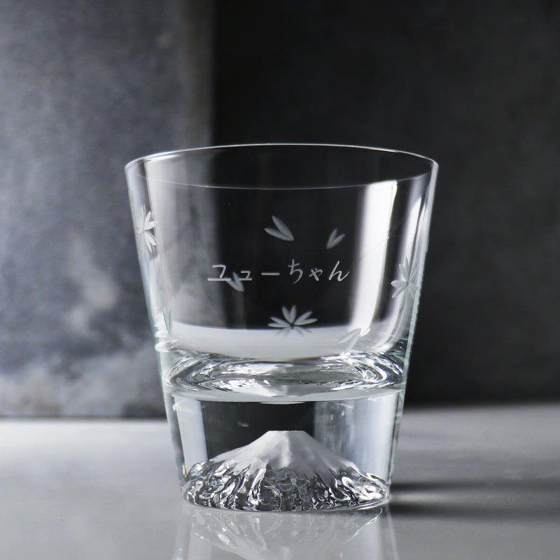 【日本江戶硝子 X MSA手工雕刻】櫻花切子富士山櫻花杯