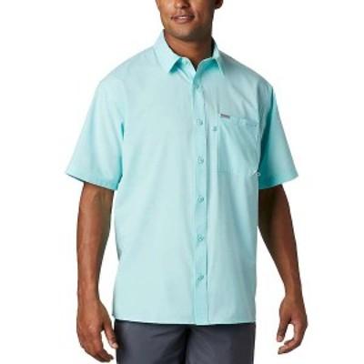 コロンビア メンズ シャツ トップス Columbia Men's PFG Zero Rules Woven SS Shirt Gulf Stream