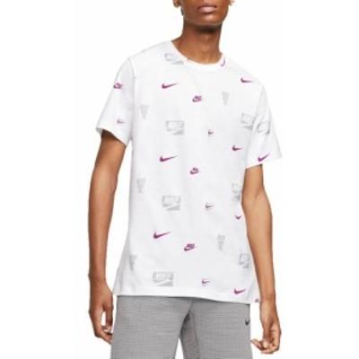 ナイキ メンズ Nike Men's Sportswear Allover Print T-Shirt 半袖 WHITE