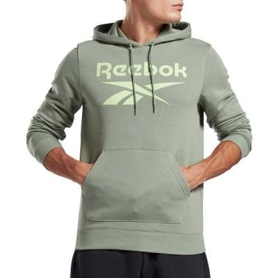 リーボック パーカー・スウェットシャツ アウター メンズ Reebok Men's French Terry Big Logo Hoodie Green