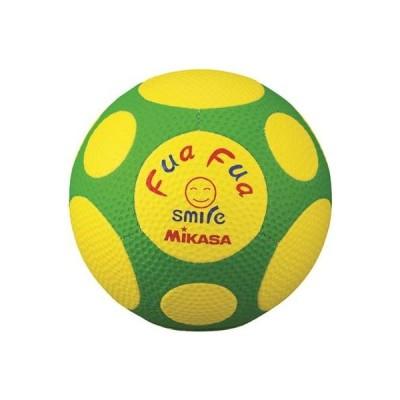 ミカサ ふぁふぁスマイルサッカーボール 手縫い4号球 キッズ用 FFF4-YG 黄/緑 FFF4-YG