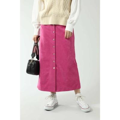 フェイクスエードスカート ピンク