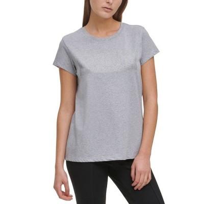 カルバンクライン カットソー トップス レディース Logo-Embellished Crewneck T-Shirt Black