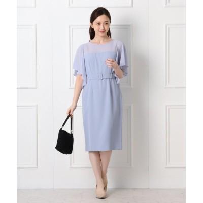 WORLD FORMAL SELECTION(ワールド フォーマル セレクション) EMOTIONALL DRESSES シフォンベルテッドドレス