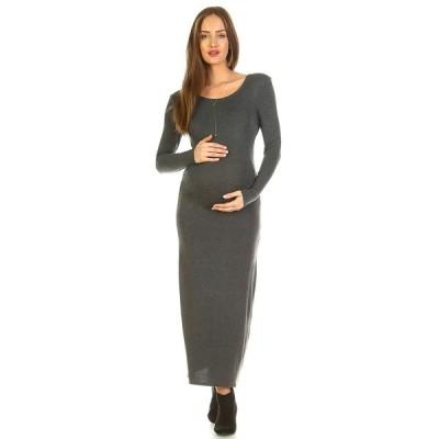 ホワイトマーク ワンピース トップス レディース Maternity Penelope Maxi Dress Charcoal