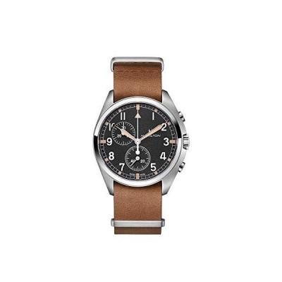 Hamilton Khaki Pilot Pioneer Chronograph Quartz Black Dial Men's Watch H76522531【並行輸入品】