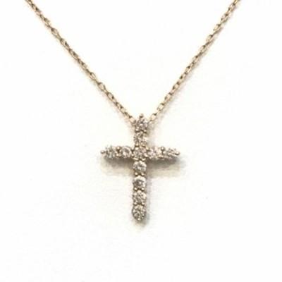 D.22ct ネックレス PGK18 ダイヤモンド ピンクゴールド18金 40 クロス/十字架 【中古】【送料無料】【新入荷】