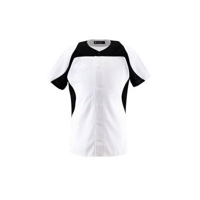 DESCENTE(デサント) ユニフォームシャツ カラーコンビネーションシャツ(フルオープン) DB1014 SWBK(Sホワイト×ブラック) L