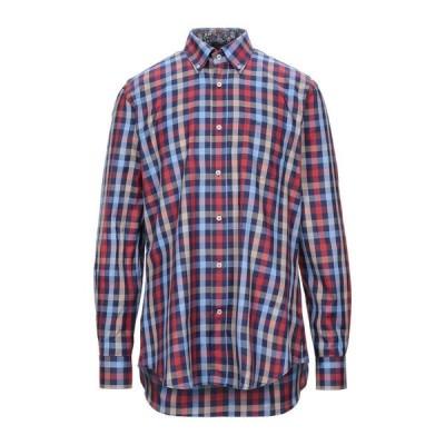 PAUL & SHARK チェック柄シャツ ファッション  メンズファッション  トップス  シャツ、カジュアルシャツ  長袖 レンガ