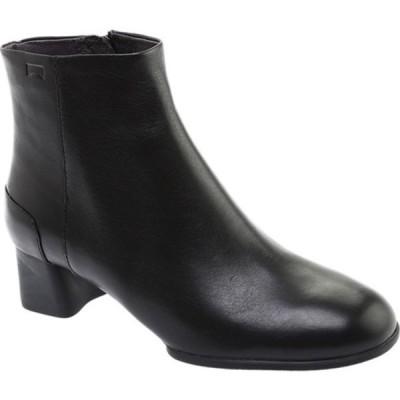 カンペール スニーカー シューズ レディース Katie Ankle Boot (Women's) Black Smooth Leather