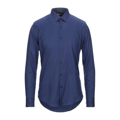 PORTOFIORI シャツ ブルー S コットン 97% / 指定外繊維(その他伸縮性繊維) 3% シャツ