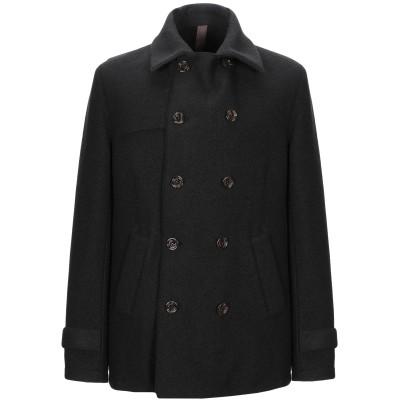 イレブンティ ELEVENTY コート ブラック 48 バージンウール 100% コート