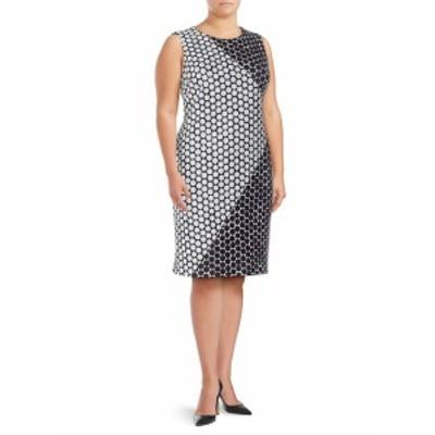 カルバンクライン レディース ワンピース Polka Dot-Print Sheath Dress
