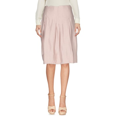 ブルー レ・コパン BLUE LES COPAINS ひざ丈スカート ピンク 1 麻 55% / レーヨン 45% ひざ丈スカート