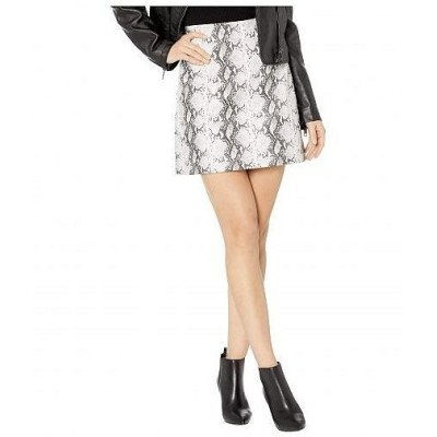 Cupcakes and Cashmere レディース 女性用 ファッション スカート Ramona High-Waist Snake Faux Leather Skirt - White