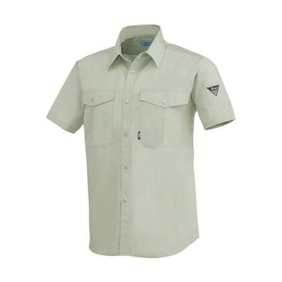 ジーベック(XEBEC) 半袖シャツ 大きいサイズ 61/モスグリーン 9920 作業服 作業着 ワークウエア ワークウェア メンズ