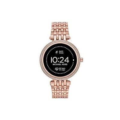 特別価格Michael Kors Women's Darci Gen5e Stainless Steel Touchscreen Smartwatch , C並行輸入品